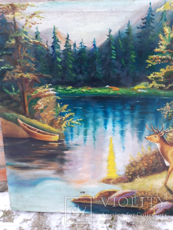 Пейзаж с оленями, фото №5