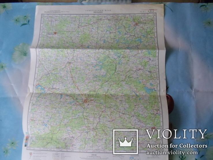 Карта Генштаба. Вильнюс ( Литва ). 1980 год. (12-05-С), фото №2