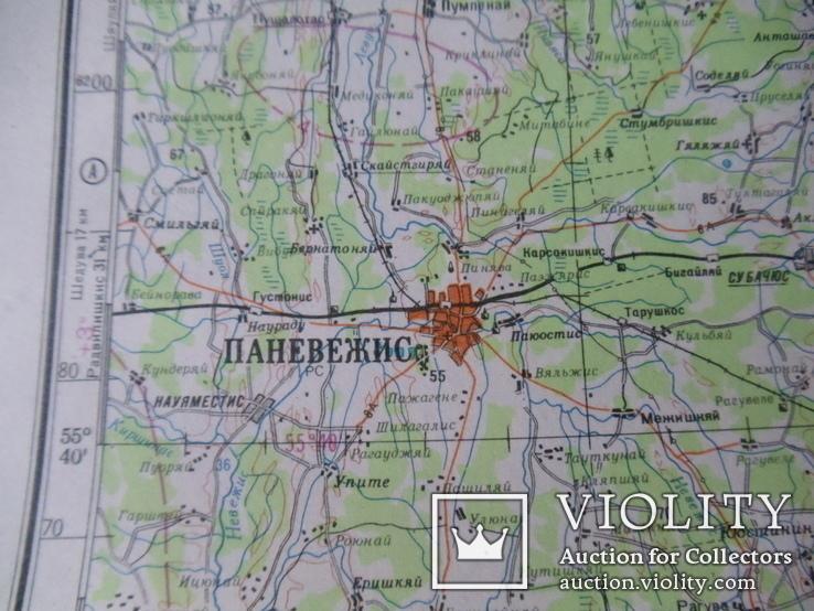 Карта Генштаба. Вильнюс ( Литва ). 1980 год. (12-05-С), фото №6