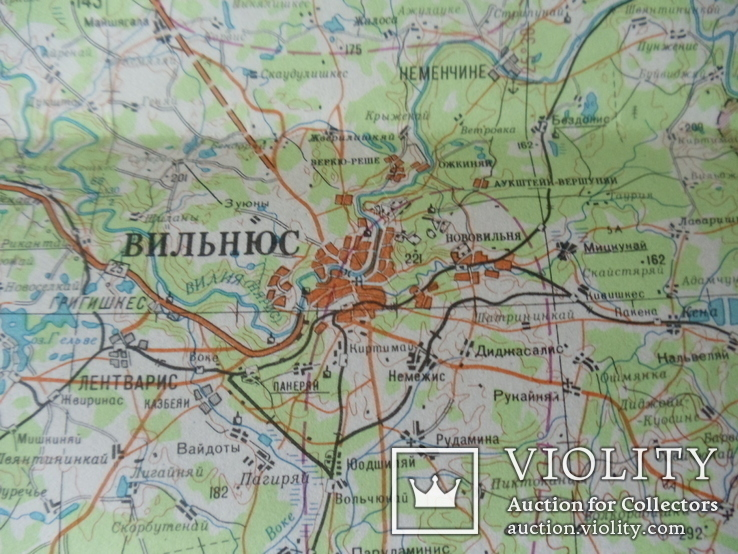 Карта Генштаба. Вильнюс ( Литва ). 1980 год. (12-05-С), фото №7
