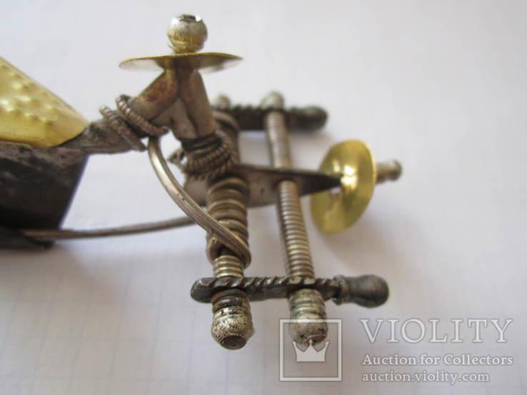 Фібула з золото накладкою., фото №6