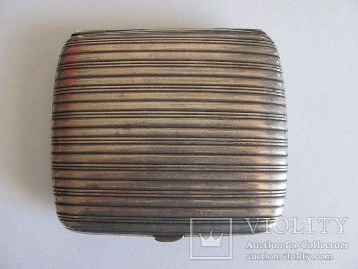 Портсигар серебряный 900 пробы для коротких сигарет, фото №2