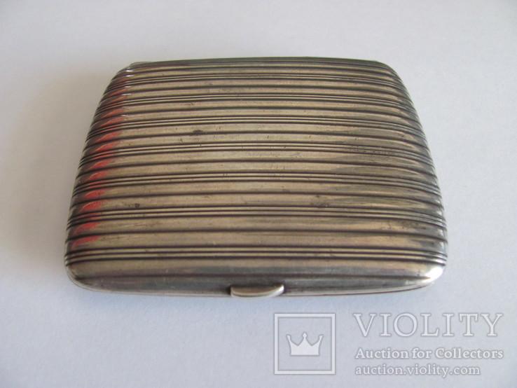 Портсигар серебряный 900 пробы для коротких сигарет, фото №3