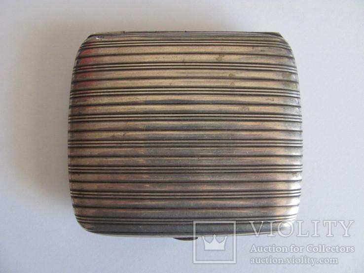Портсигар серебряный 900 пробы для коротких сигарет, фото №4