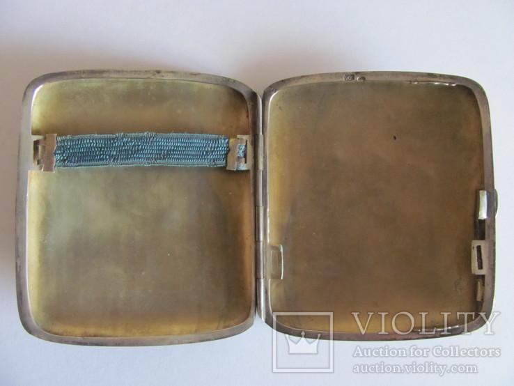 Портсигар серебряный 900 пробы для коротких сигарет, фото №5