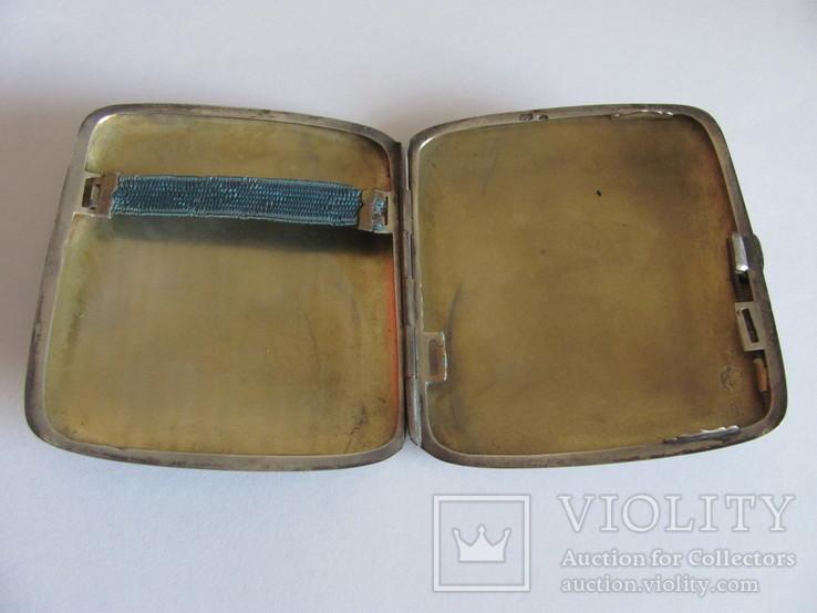 Портсигар серебряный 900 пробы для коротких сигарет, фото №7