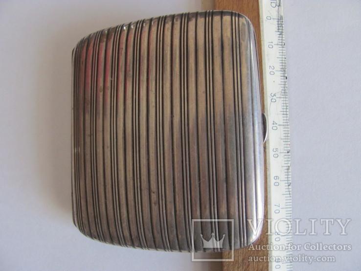Портсигар серебряный 900 пробы для коротких сигарет, фото №8