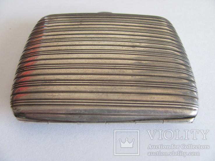 Портсигар серебряный 900 пробы для коротких сигарет, фото №9