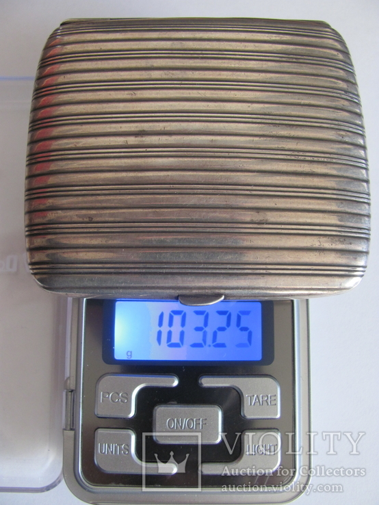 Портсигар серебряный 900 пробы для коротких сигарет, фото №10