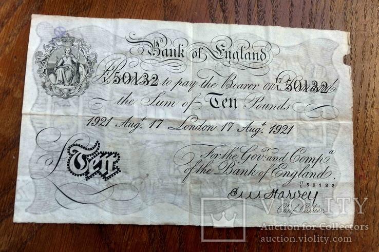 Велика Британія, 10 фунтів, 1921, 17 August., фото №2