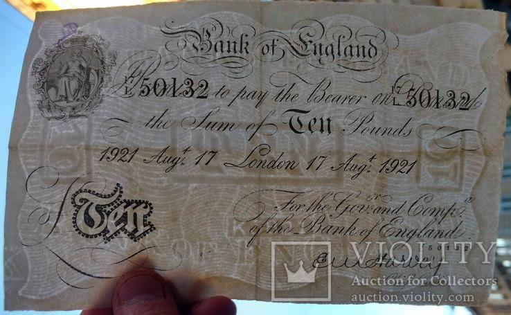 Велика Британія, 10 фунтів, 1921, 17 August., фото №4