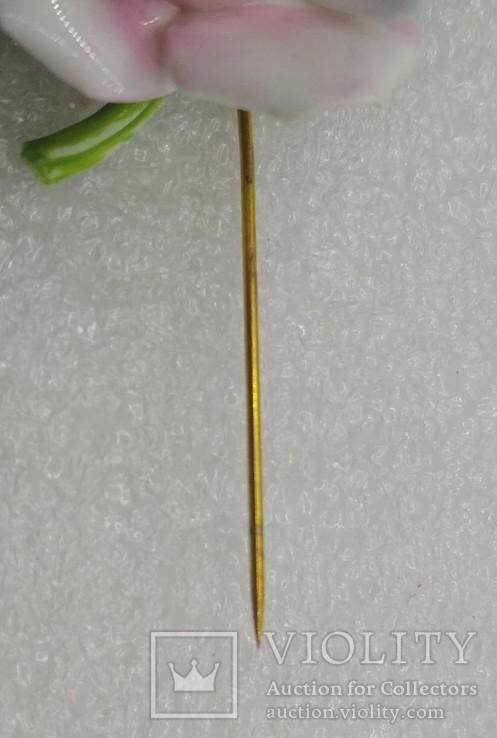 Брошь булавка костяной фарфор, фото №8