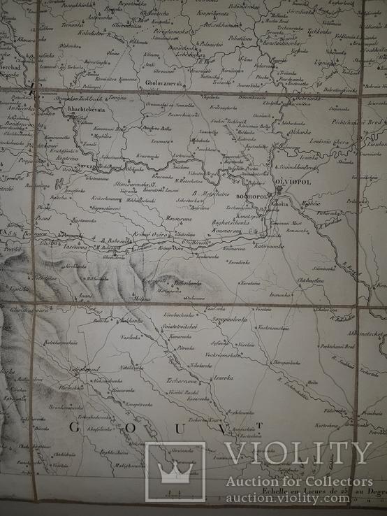 1810-е Карта центральной Украины  82х53, фото №4