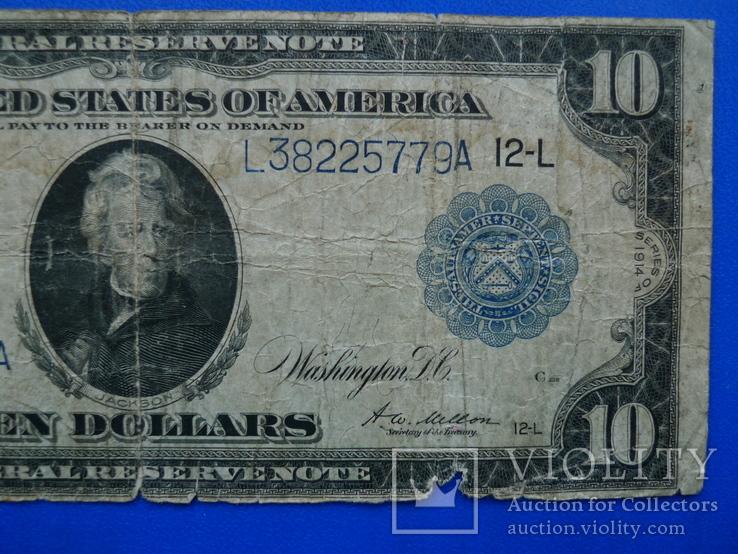 10 долларов 1914 (12-L), фото №4