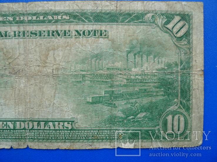 10 долларов 1914 (12-L), фото №6