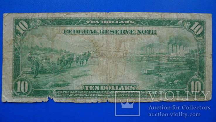 10 долларов 1914 (12-L), фото №7