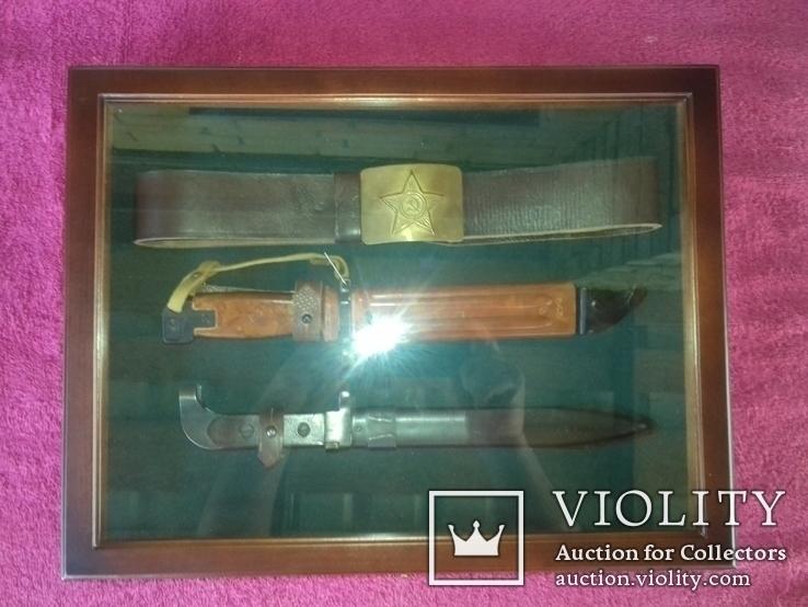 Витрина. рамка для кортиков .штык ножей.блях, фото №2
