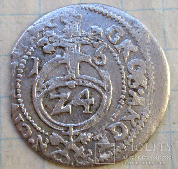Грош 1616 года (Рига) R5, фото №2