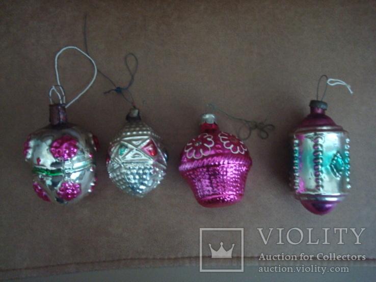Ёл.игрушки СССР,корзины с цветами,фонарики, фото №6
