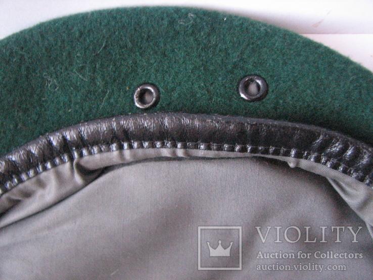 Берет зеленый.58 размер, фото №6