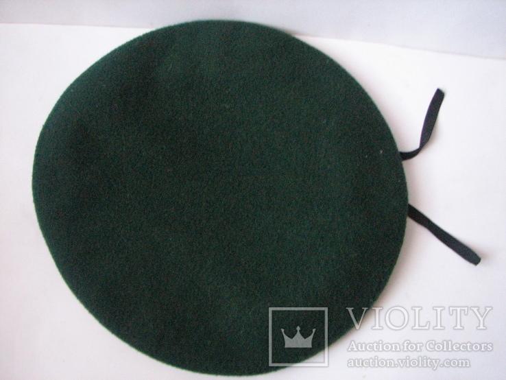 Берет зеленый.58 размер, фото №9
