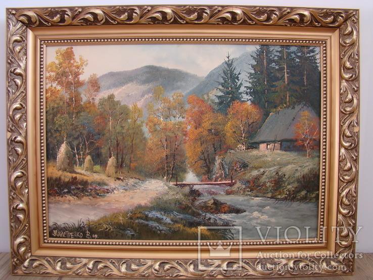 Картина худ. В.Майстренко, гірський пейзаж, 50х70х10, масло