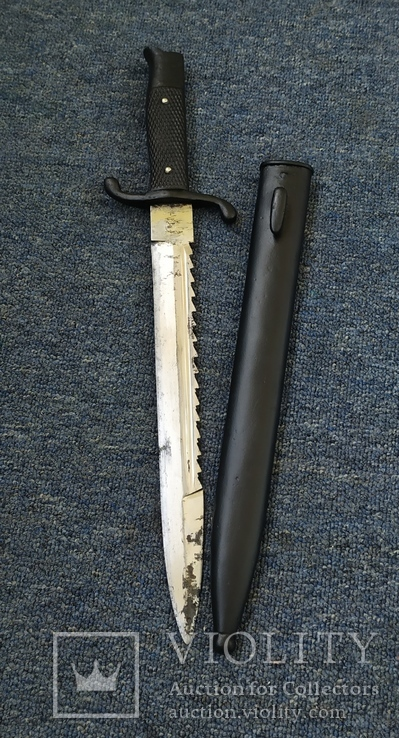 Парадный нож, пожарных подразделений, акулий зуб,пила, клеймо WKS, фото №6