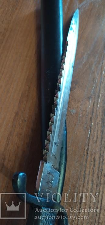 Парадный нож, пожарных подразделений, акулий зуб,пила, клеймо WKS, фото №7