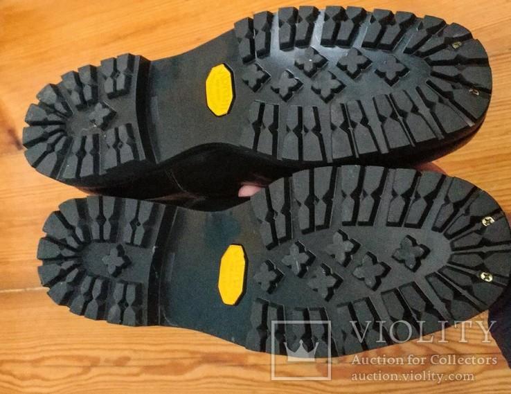 Сапоги хромовые новые 44 размер made in Italy Vibram, фото №7