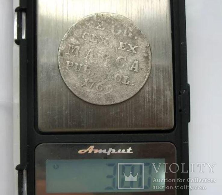 2 Гроша 1769 рік Польща Срібло, фото №6