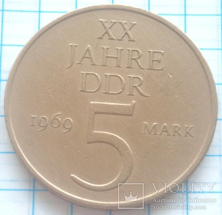 5 марок, ГДР, 1969г., фото №2