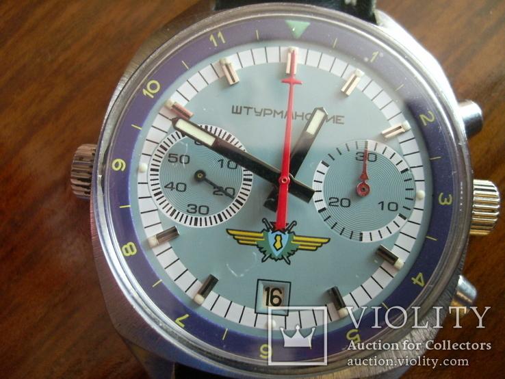 Часы лётчика СССР(штурманские) мех.3133, фото №11