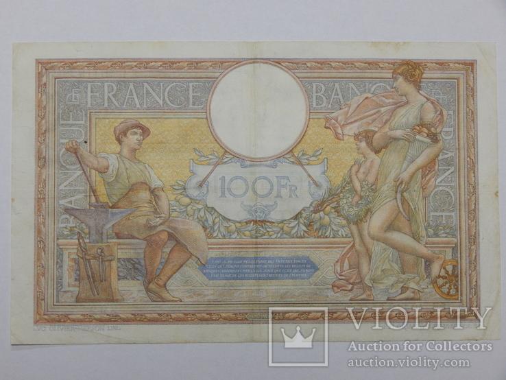 Бона 100 франков, 1933 г Франция, фото №3