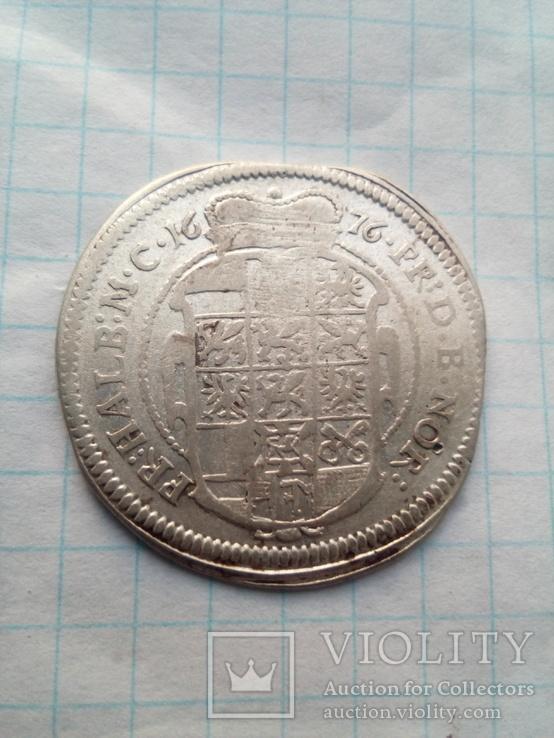 1/6 Талера 1676 Герцога  Брандербург- Ансбах, фото №5