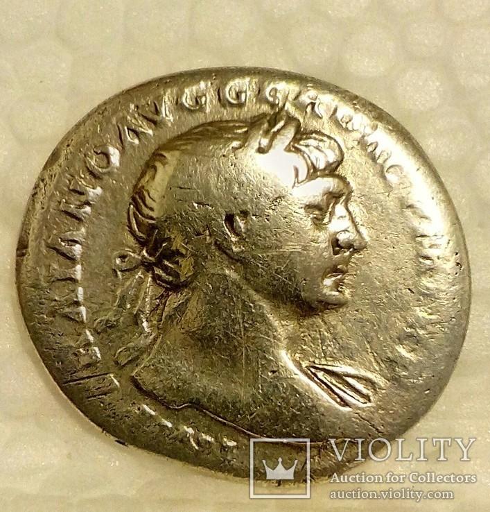 Денарий Траян., фото №2