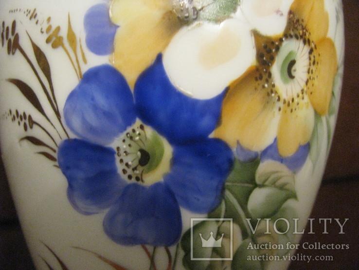 Ваза - фарфор - живопись - Дулёво - 1937 - 47 г.г. - высота 22 см., фото №5