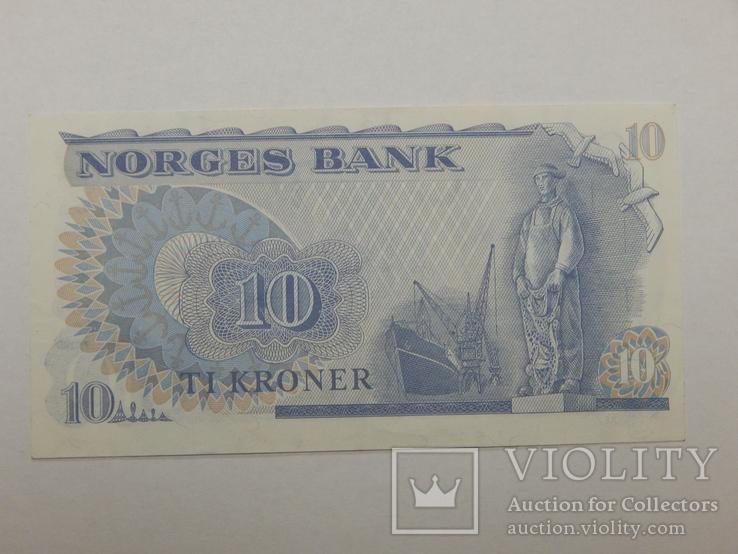 Бона 10 крон, 1982 г Норвегия, фото №3