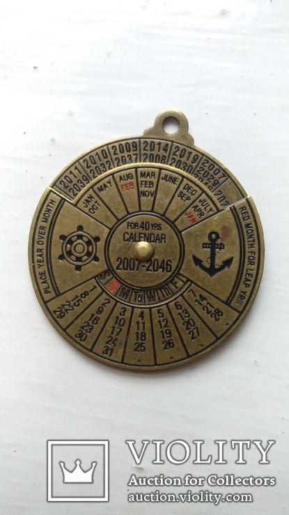 Сувенирный медальон. Календарь до 2046 года, фото №2