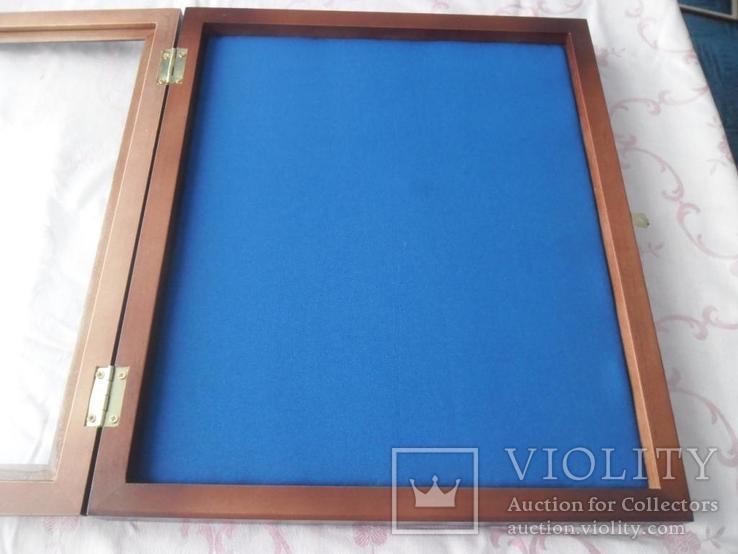 Рамка для орденів та медалей 30х40 синя, фото №4