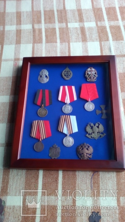 Рамка для орденів та медалей 30х40 синя, фото №6