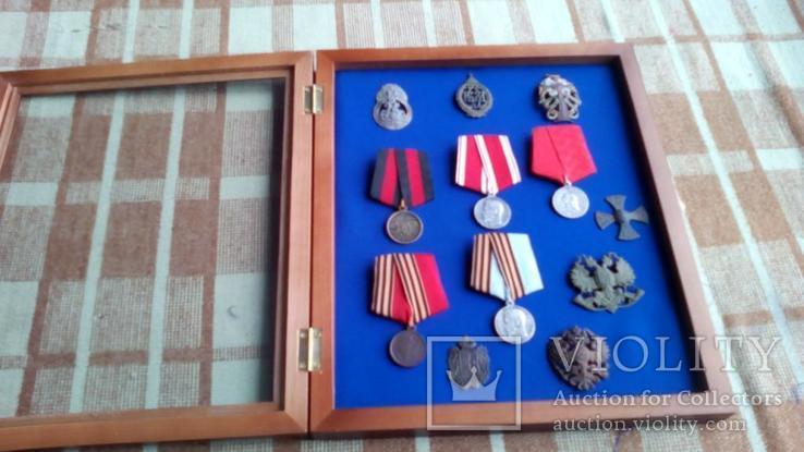 Рамка для орденів та медалей 30х40 синя, фото №7