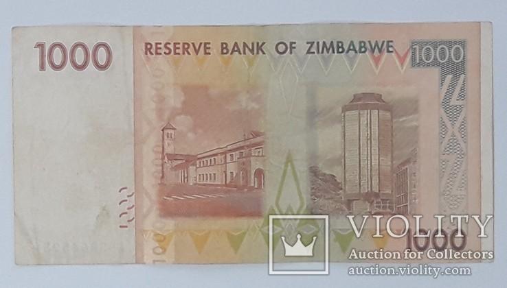 Зимбабве 1000 долларов 2007 год, фото №3