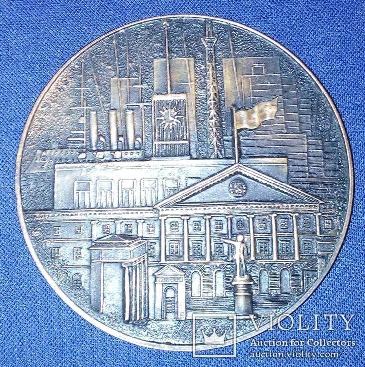 Настольная медаль*Ленинград*.Медь., фото №3