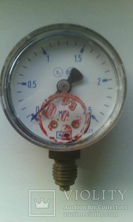 Манометр кислородный О2, фото №2