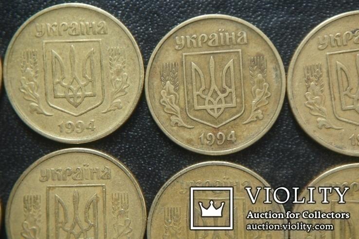 50 копеек  1994 г  -  120 шт  ( Разные гурты,разные штампы ), фото №4