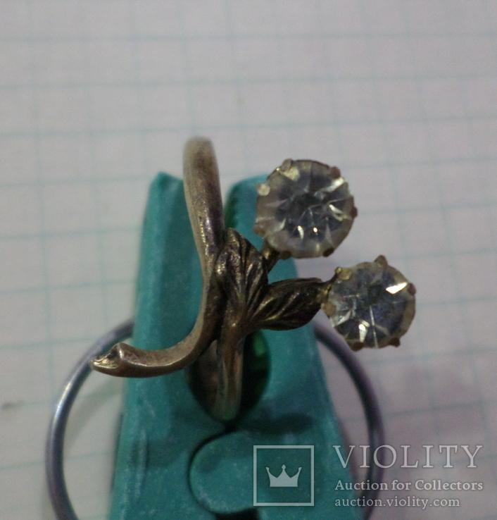 Кольцо позолота, фото №2