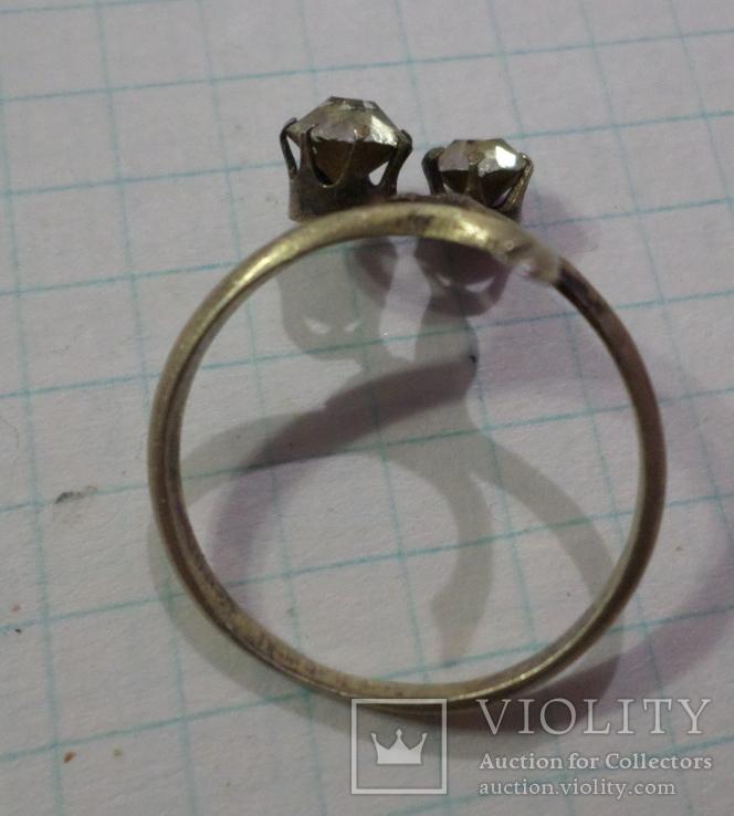 Кольцо позолота, фото №3