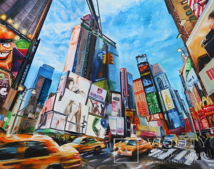Жизнь в Нью Йорке. 80Х100 см.