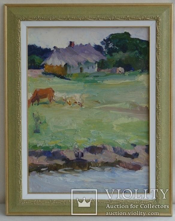 Художник Дубина Н.А. (1939 - 1994) Сельский пейзаж