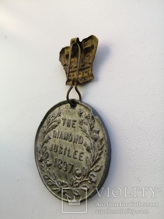 Англия, 60 лет правления Виктории. Самая редкая. The diamond jubilee 1897, фото №3